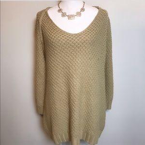 SOFT SURROUNDING cozy tan knit sweater